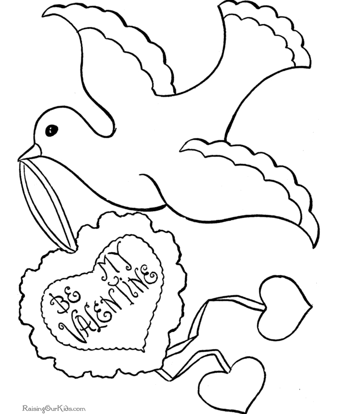 free valentine coloring pages - free valentine coloring pages