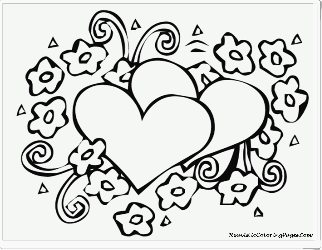 free valentine coloring pages - quoteko coloringpagesheartsandflowers