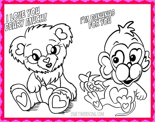 Free Valentines Day Coloring Pages - Free Printable Valentine S Day Coloring Pages Crafty Morning