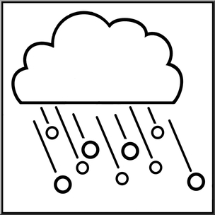free winter coloring pages - clip art weather icons hail bw unlabeled