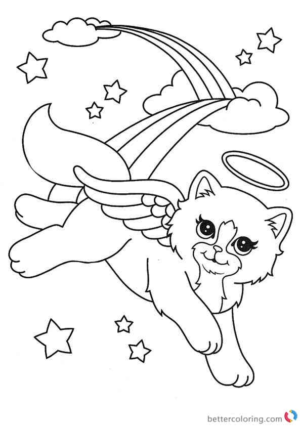 Coloring Pages Free Winter. free winter coloring pages  lisa frank beautiful cat angel a4 printable 21 Free Winter Coloring Pages Selection FREE COLORING PAGES