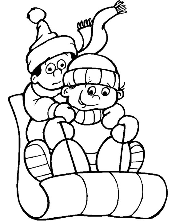 Free Winter Coloring Pages - Winter Season Coloring Pages