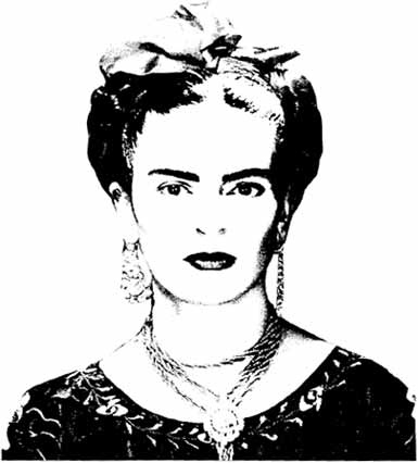 frida kahlo coloring pages -