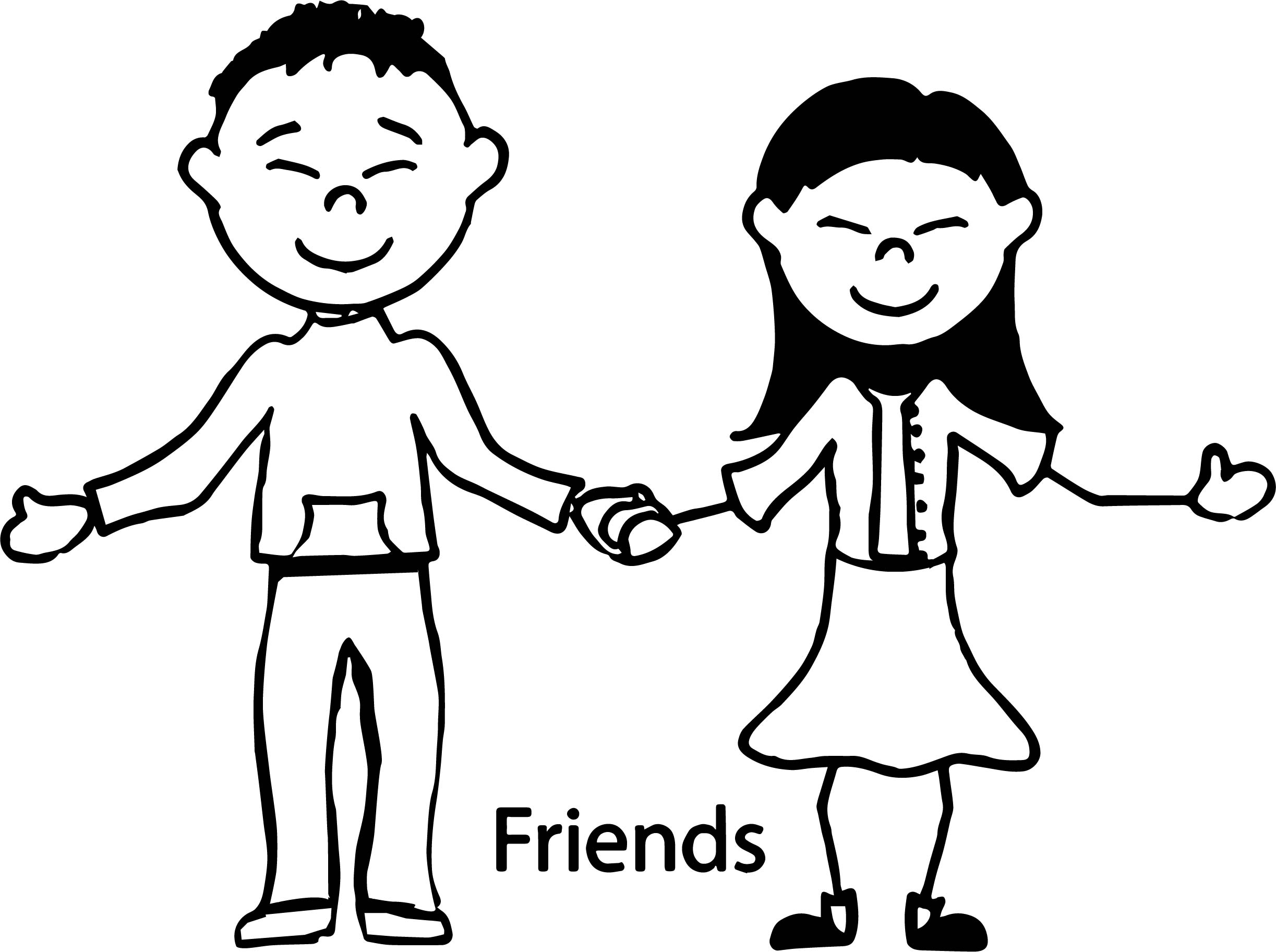 Friendship Coloring Pages - Friendship Children Coloring Page