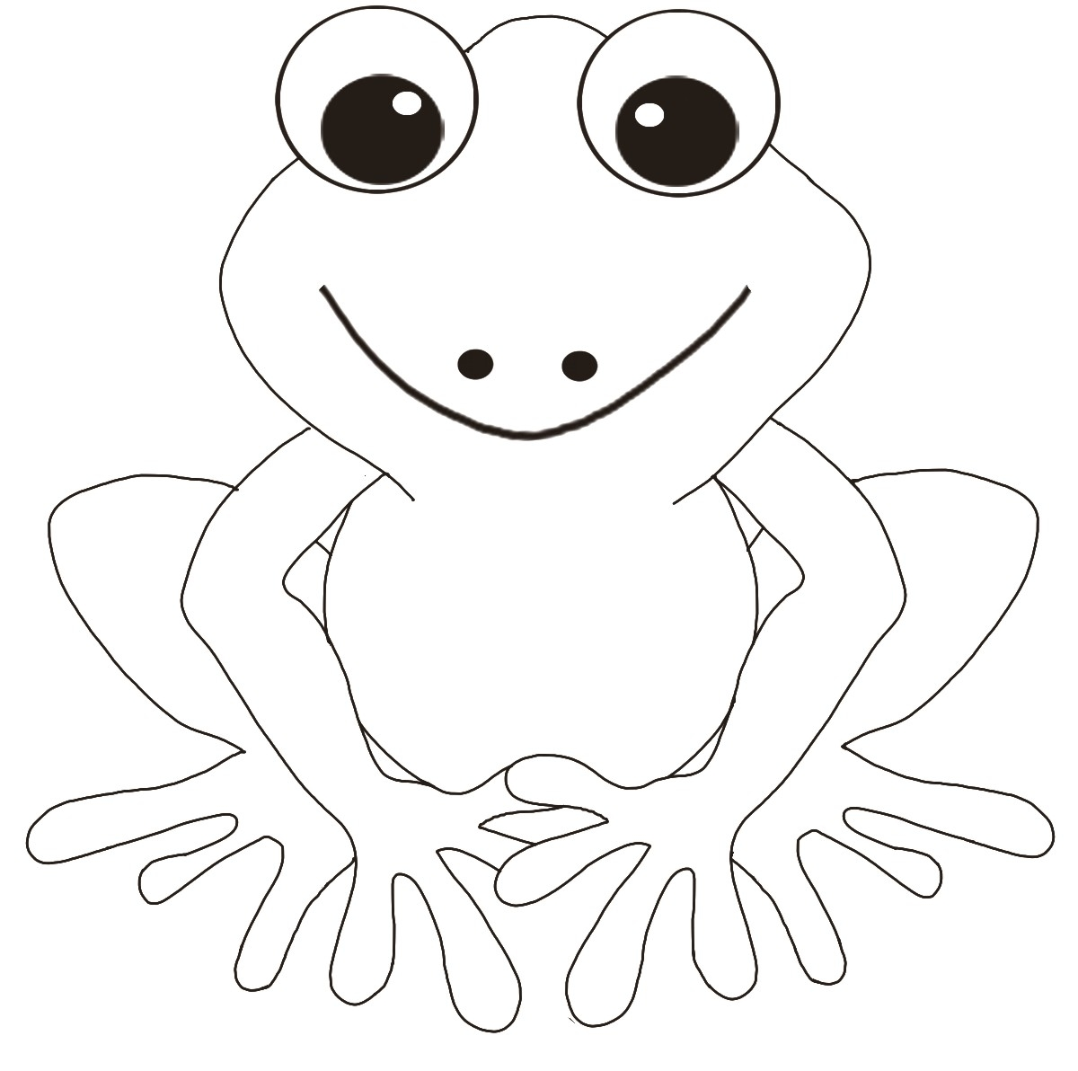 frog coloring pages - frog coloring pages