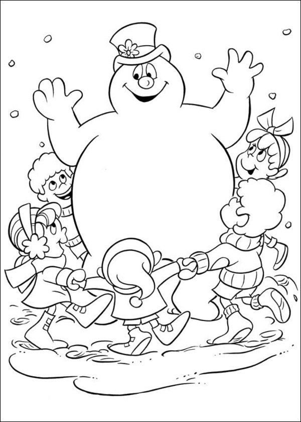 frosty the snowman coloring pages - free printable frosty snowman coloring pages