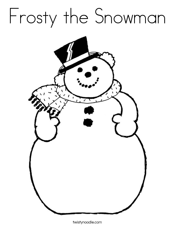 frosty the snowman coloring pages - frosty the snowman 16 coloring page