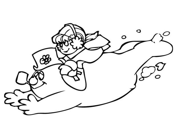 frosty the snowman coloring pages - karen and frosty the snowman