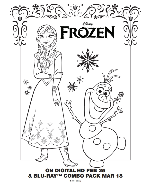 Frozen Coloring Pages Free - Frozen Coloring Pages and Activity Sheets Mommy S Busy