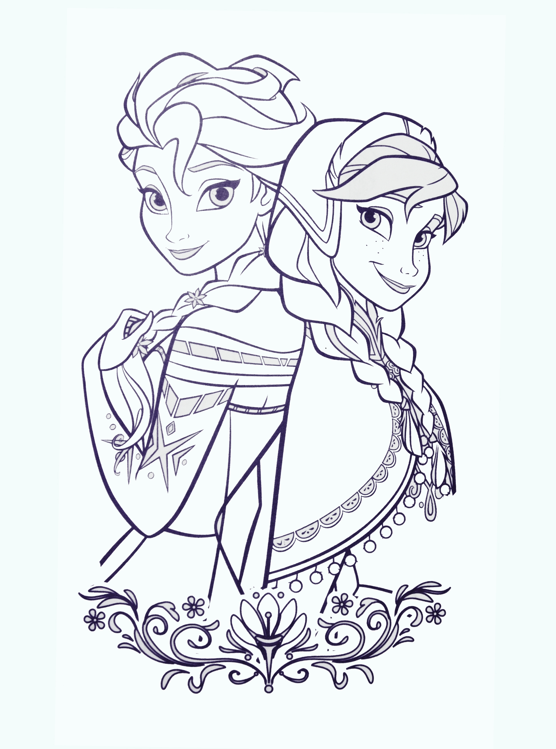 frozen elsa coloring pages - ana and elsa coloring page frozen elsa anna coloring page coloring pages pinterest