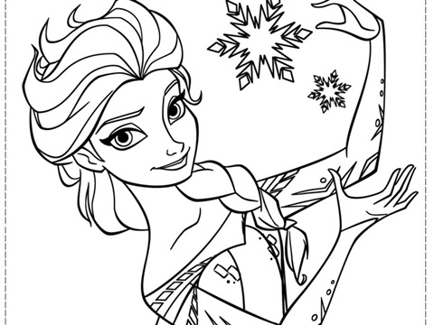 frozen elsa coloring pages -