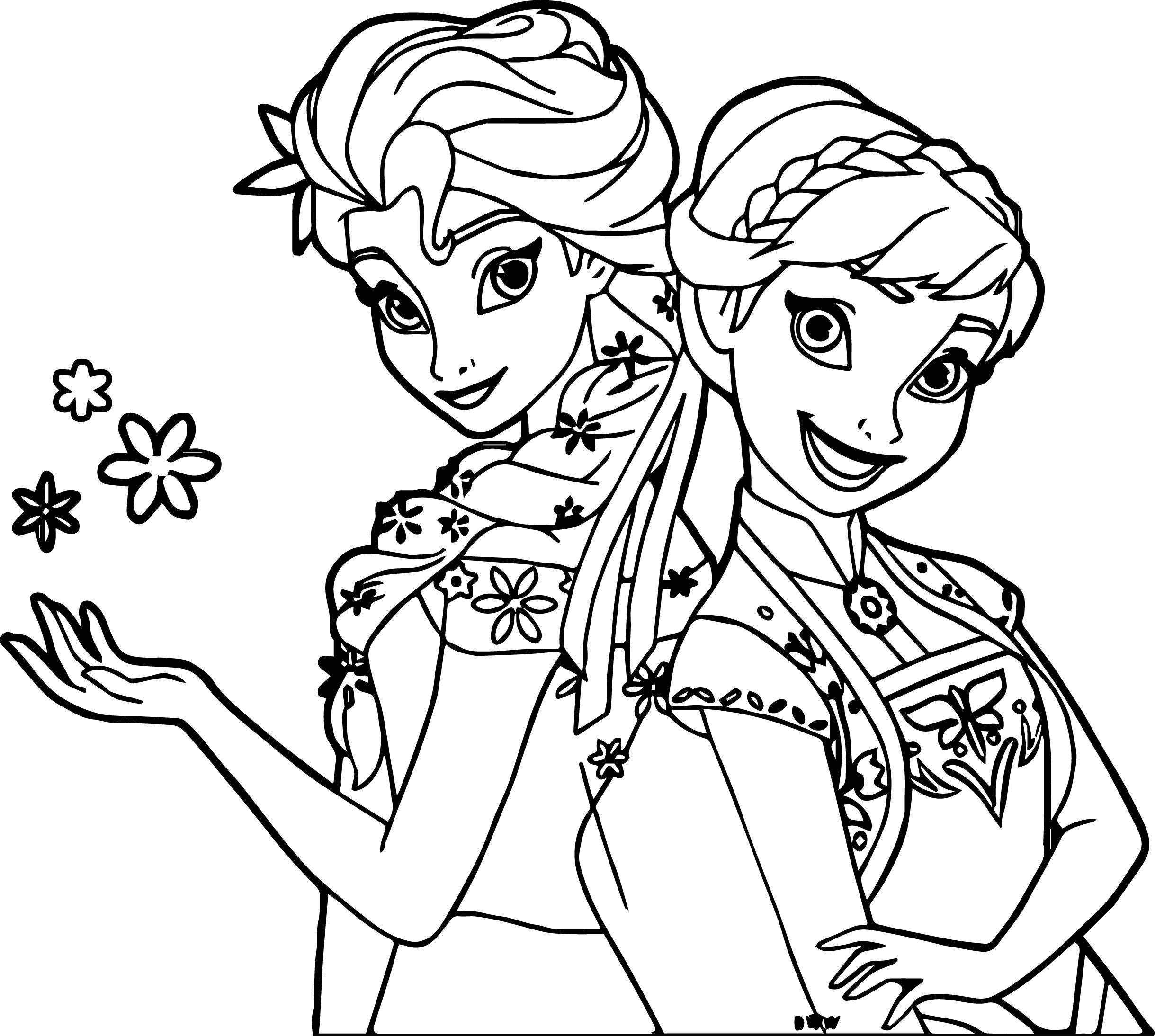 frozen fever coloring pages - frozen fever anna snow coloring page