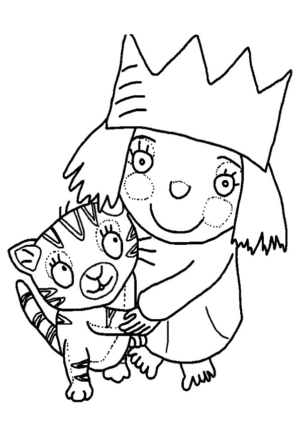 frozen printable coloring pages - kleine prinzessin 25