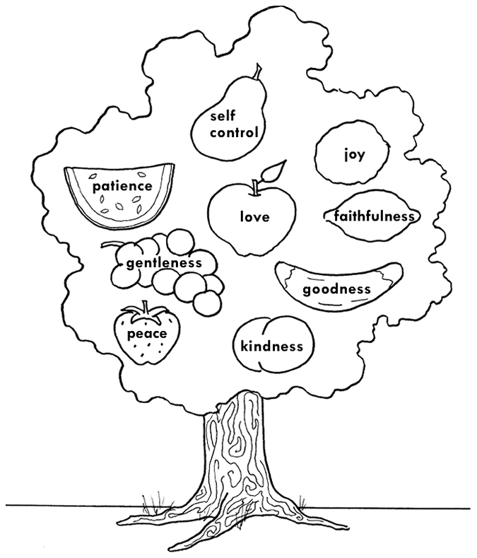 fruit of the spirit coloring page - fruit of the spirit colorpg