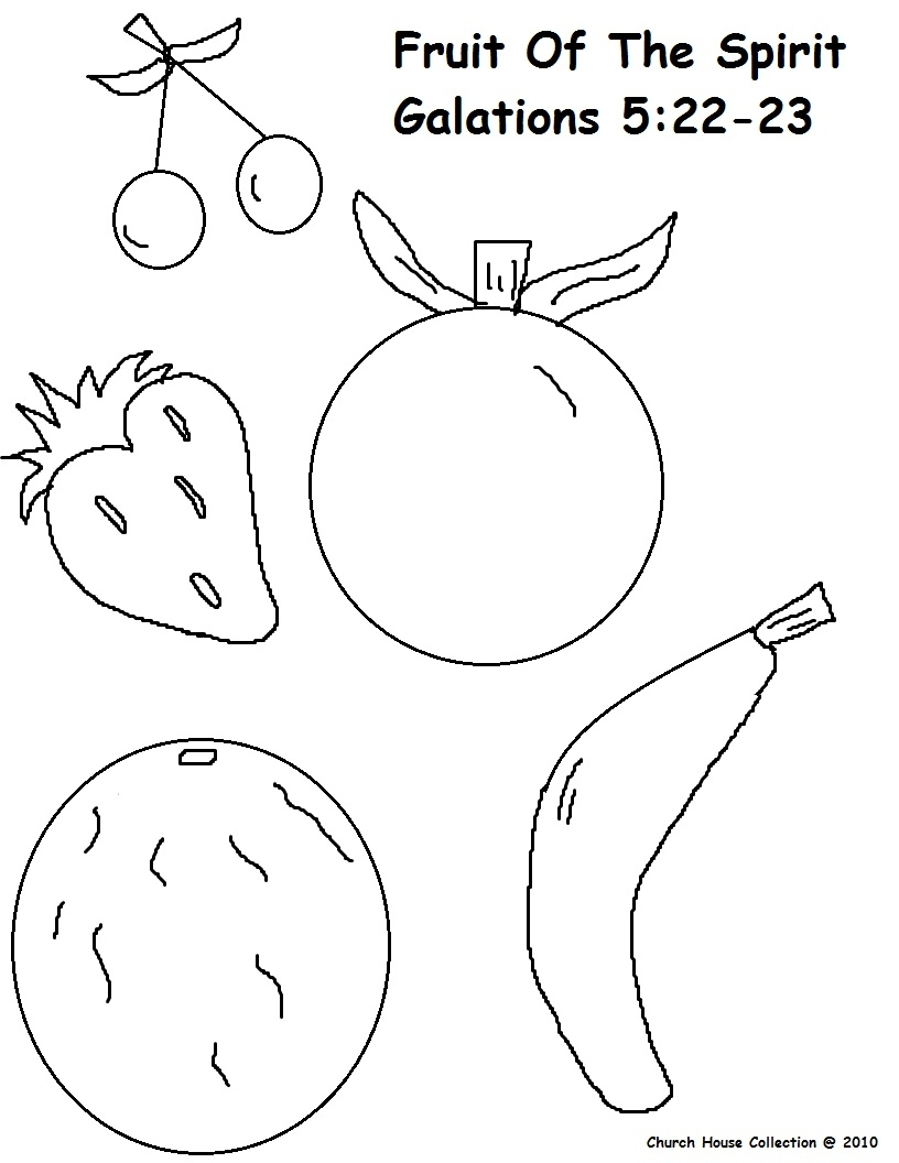fruit of the spirit coloring page - fruit of the spirit coloring pages