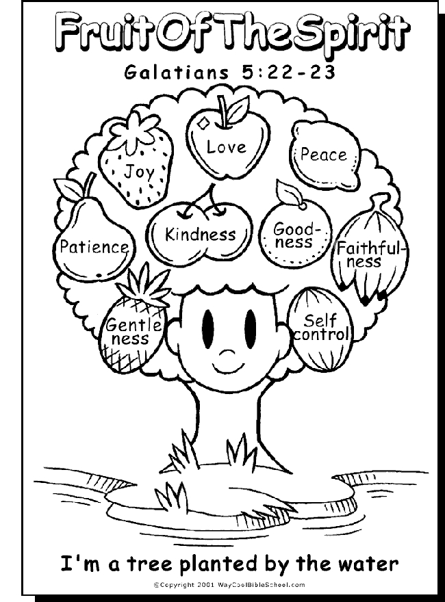Fruit Of the Spirit Coloring Page - Fruit the Spirit Coloring Pages Coloring Home