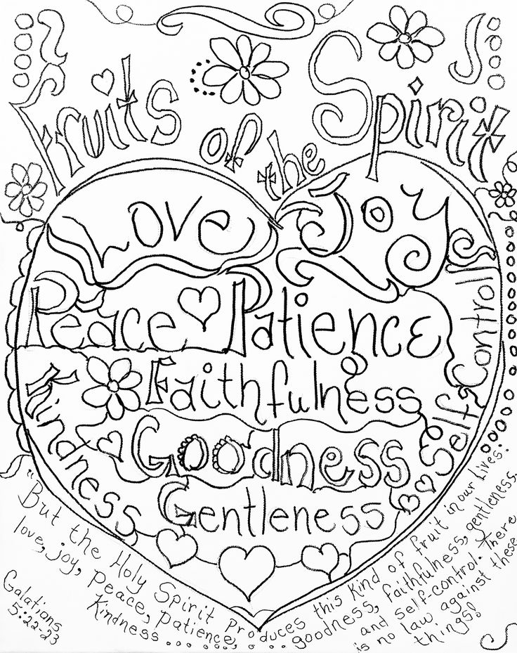 fruit of the spirit coloring page -