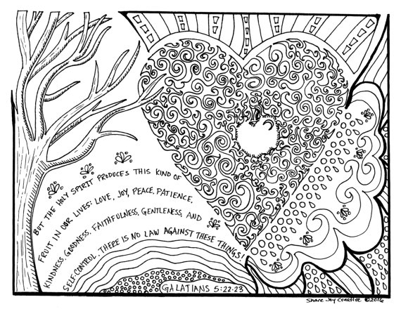 Fruits Spirit Coloring Pages: 24 Fruit Of The Spirit Coloring Page Printable