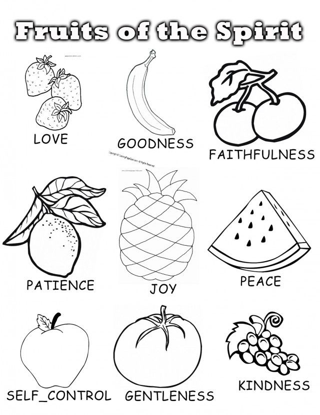 fruit of the spirit coloring page - the fruit of the spirit coloring pages