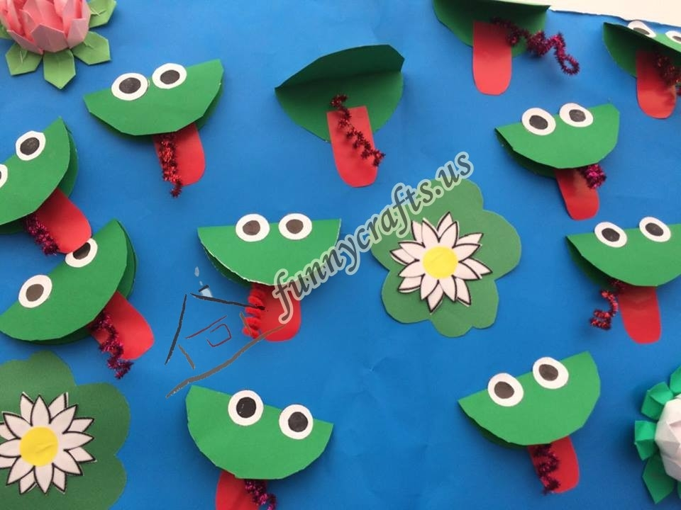 fruits and vegetables coloring pages - preschool frog themed crafts 1