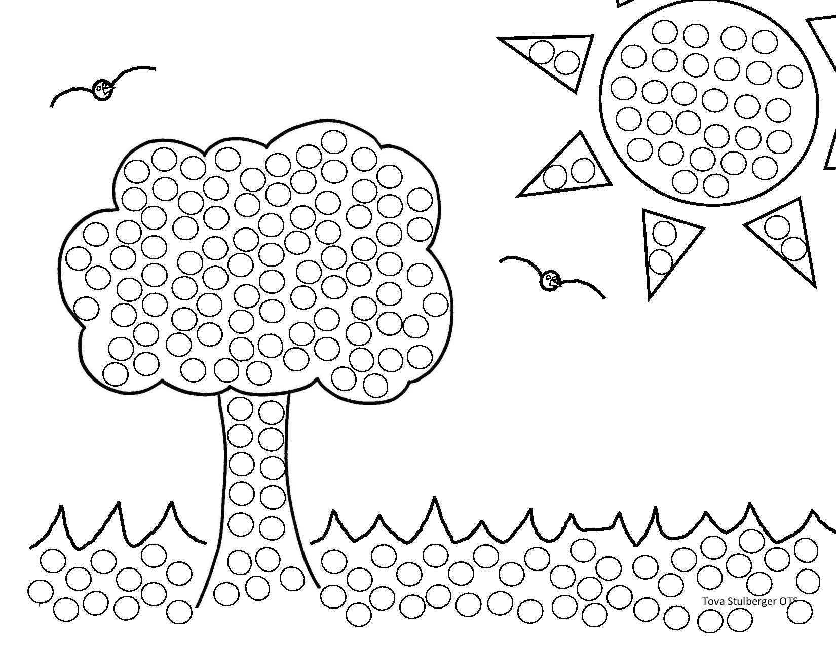 fruits and vegetables coloring pages - q tip painting with templates
