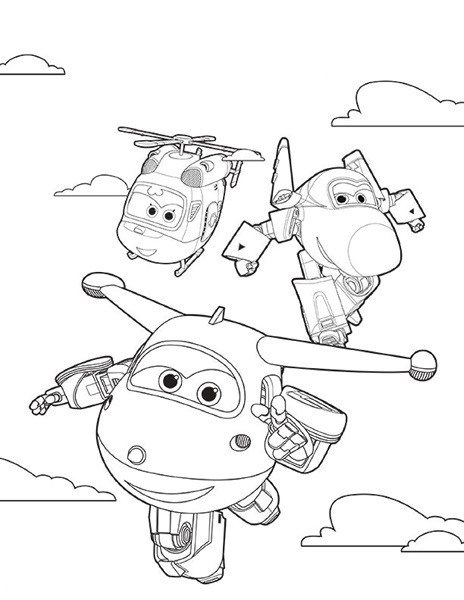 fruits and vegetables coloring pages - super wings coloring page