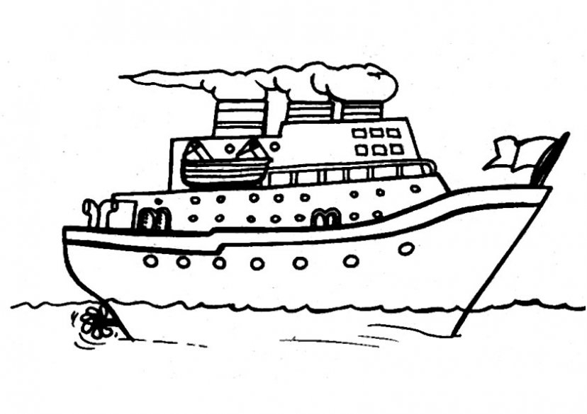 full page coloring pages - boat coloring pages 14