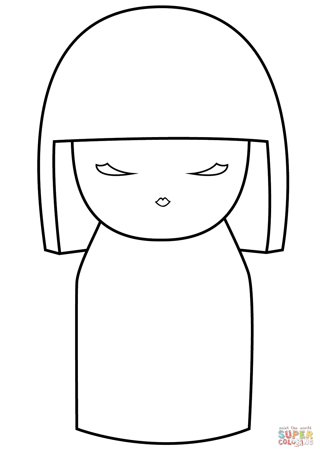 Full Page Coloring Pages - Coloriage Kimmidoll Vide