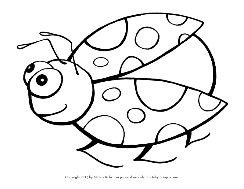 full page coloring pages - ladybug coloring page