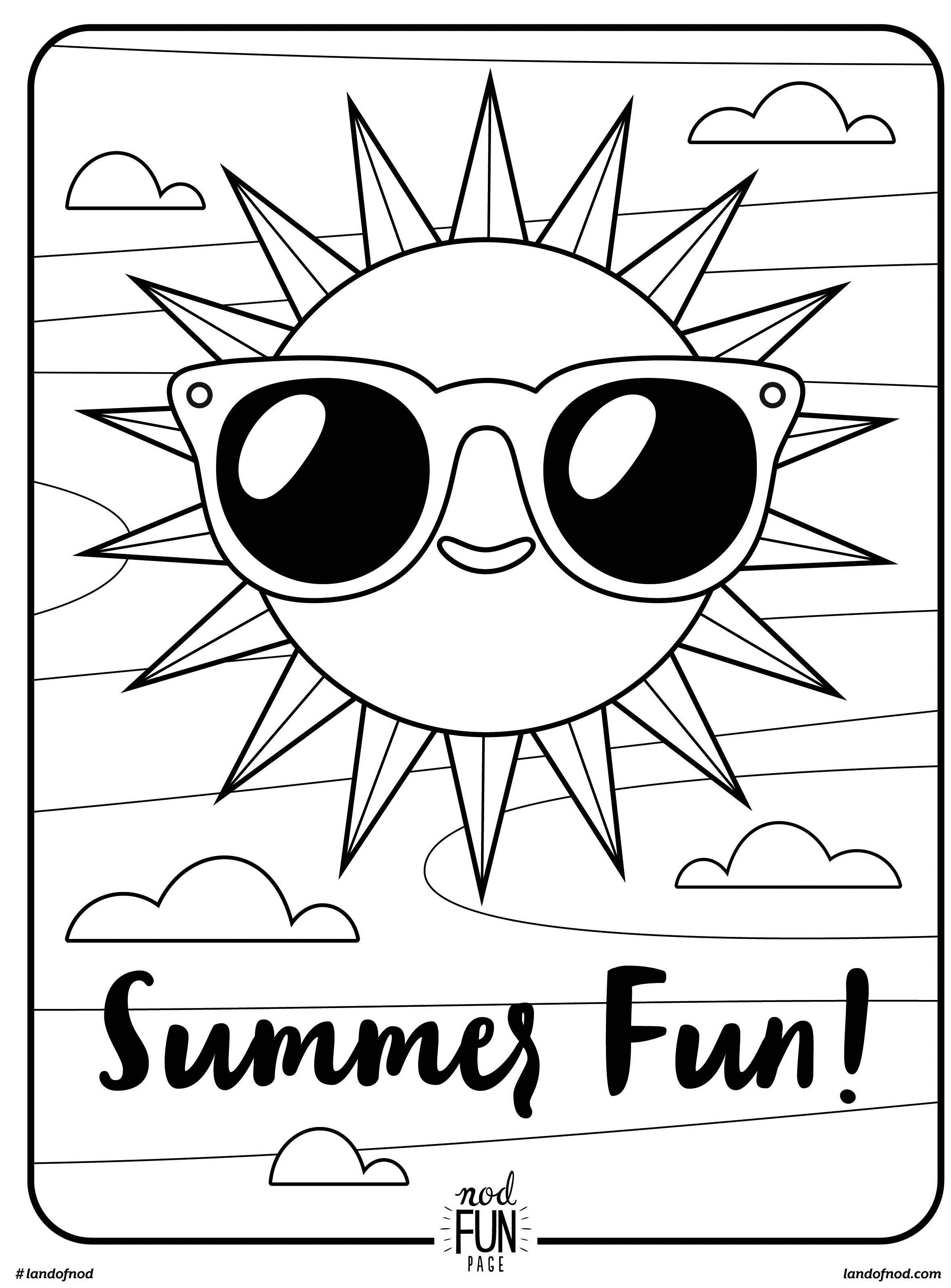 fun coloring pages - free printable coloring page summer fun