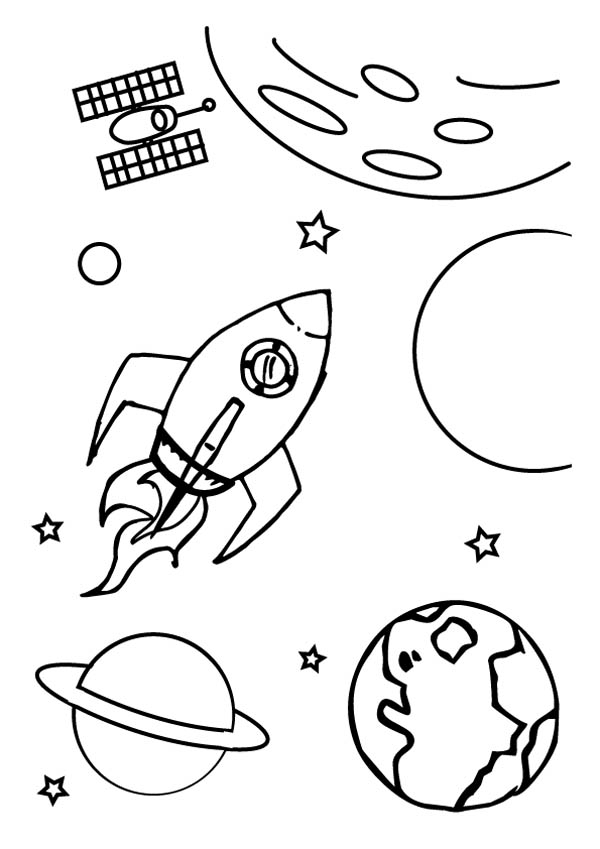 galaxy coloring pages - milky way galaxy coloring page