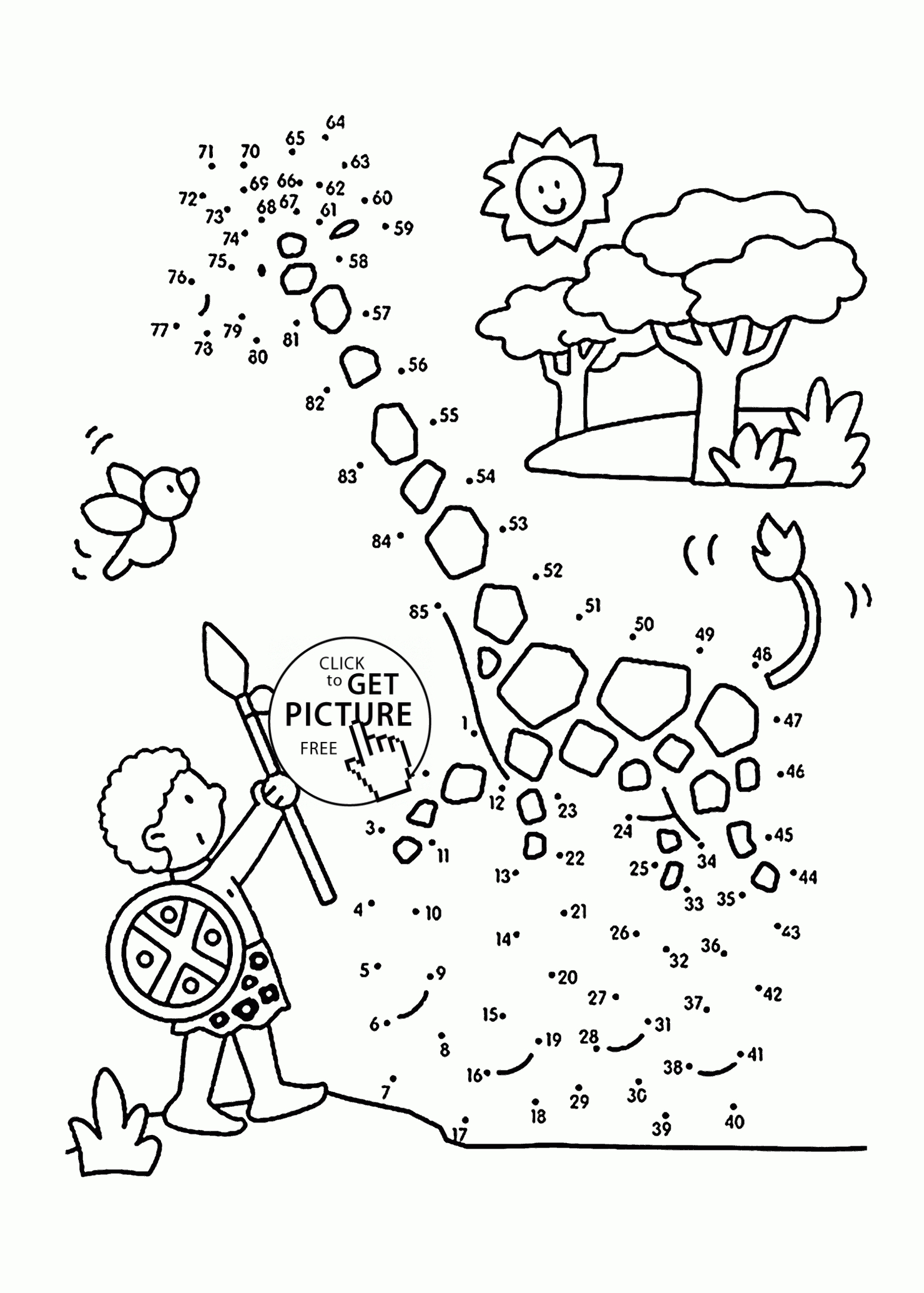garbage truck coloring page - connect the dots giraffe giraffe dot to dot free printable coloring pages 2