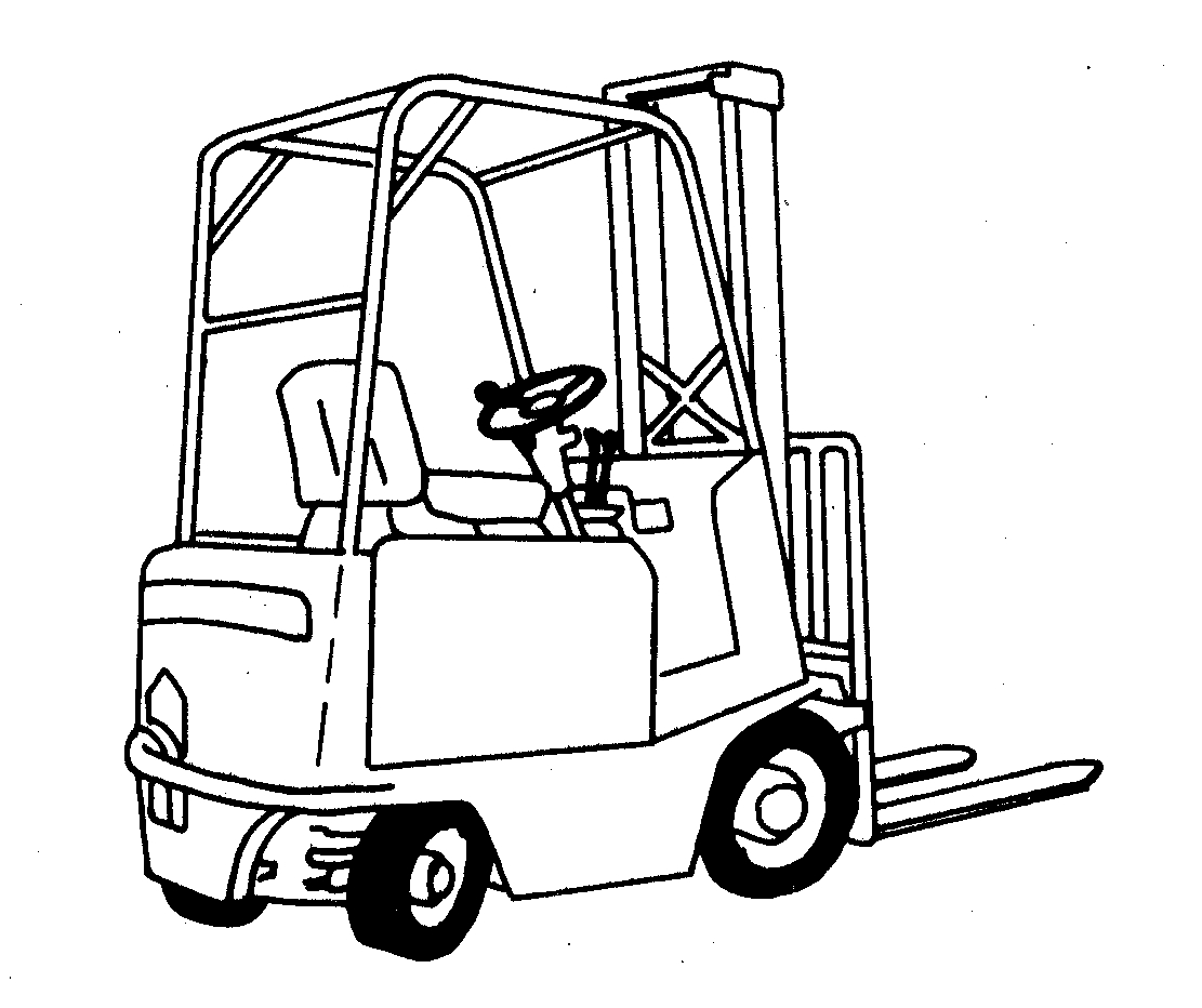 garbage truck coloring page - q=forklift truck