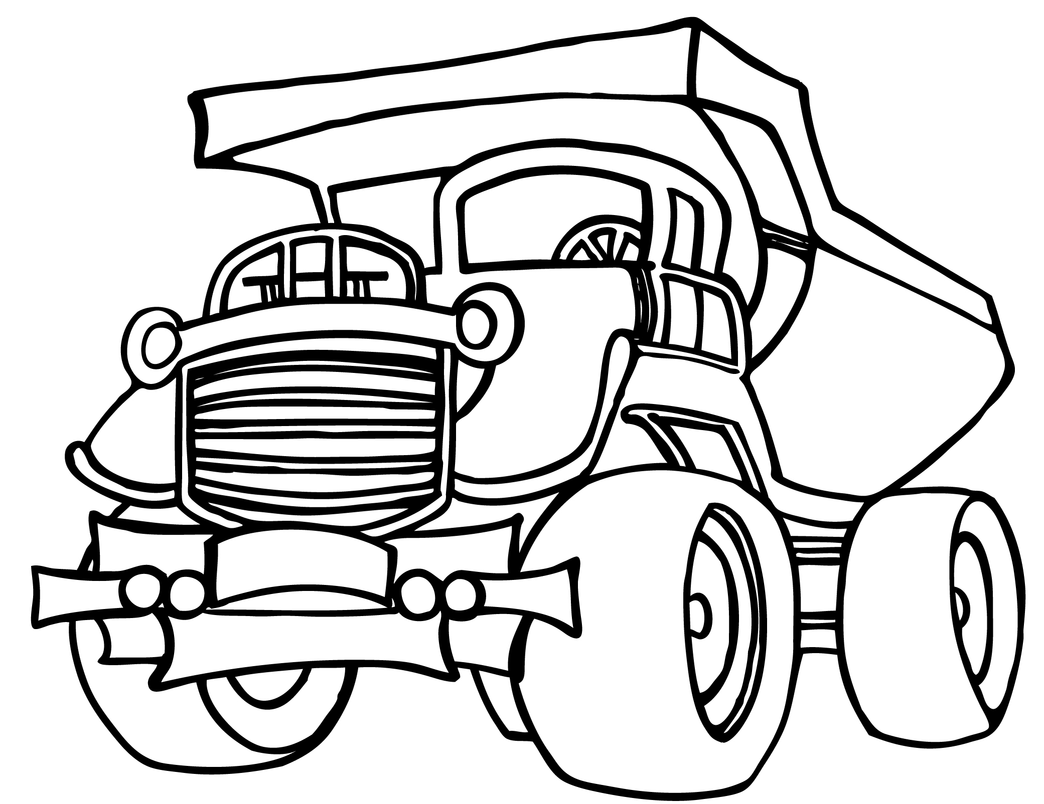 garbage truck coloring page - how to draw a garbage truck