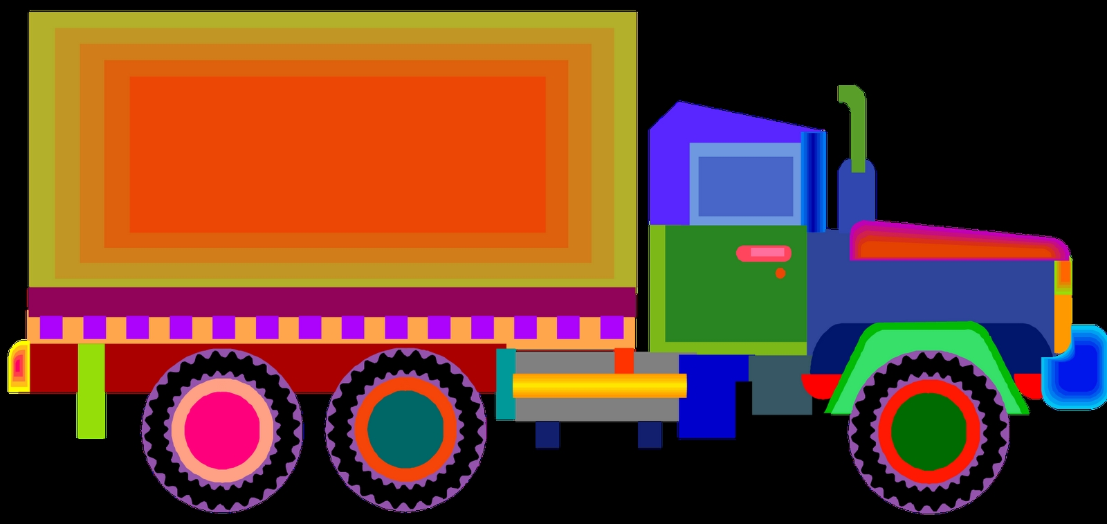 garbage truck coloring page - pictures of trucks for kids