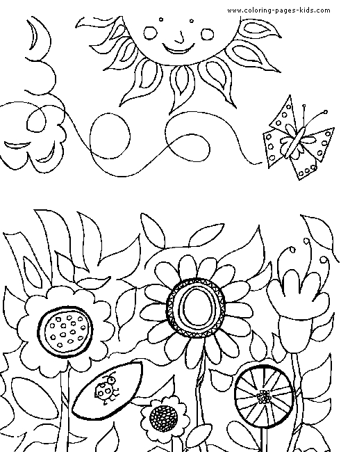 garden coloring pages - flower garden coloring pages