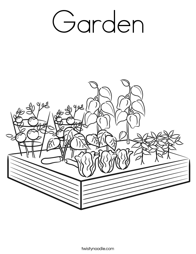 garden coloring pages - garden 23 coloring page
