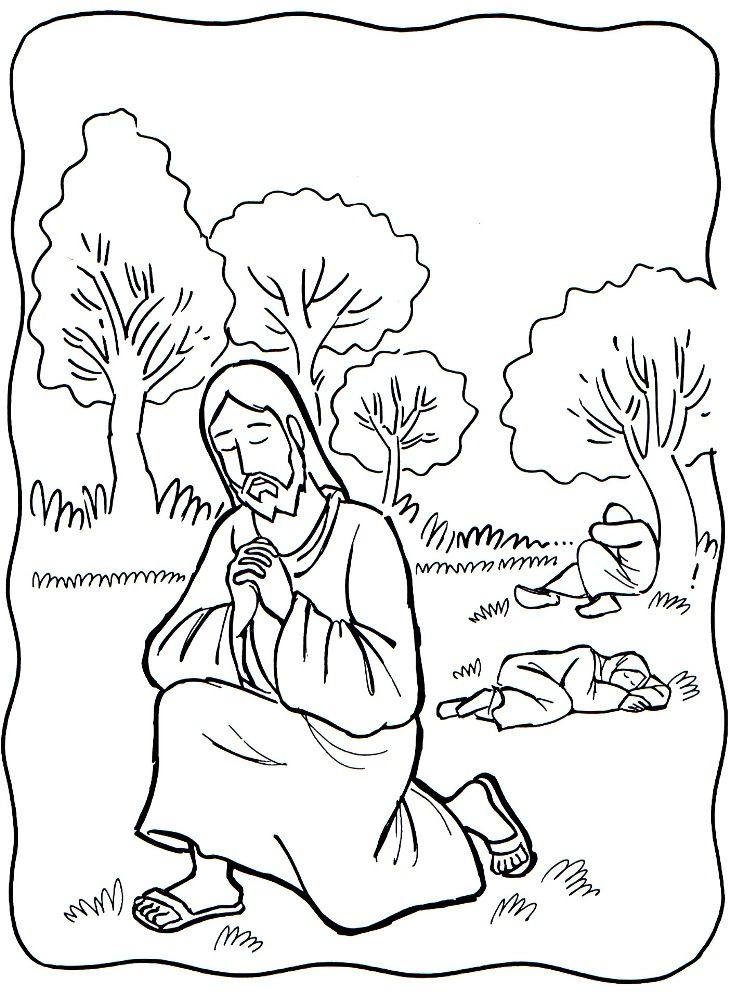 garden of eden coloring pages - jesus praying in the garden of hsemane clipart