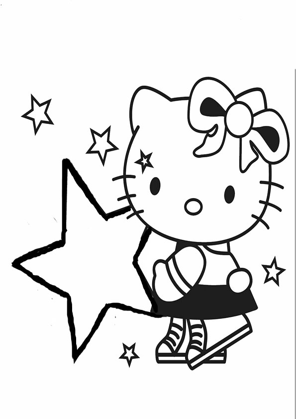 garfield coloring pages - hello kitty 34
