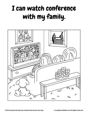 general conference coloring pages - lds general conference activities ideas