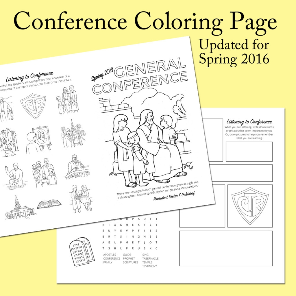 general conference coloring pages - 2016 spring general conference printables