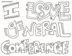 general conference coloring pages - general conference