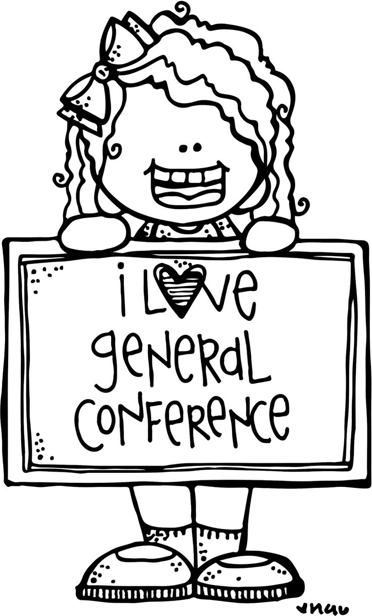 general conference coloring pages - lds clip art
