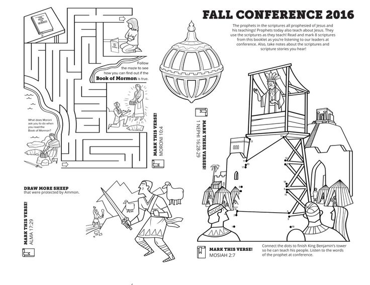 general conference coloring pages - for church