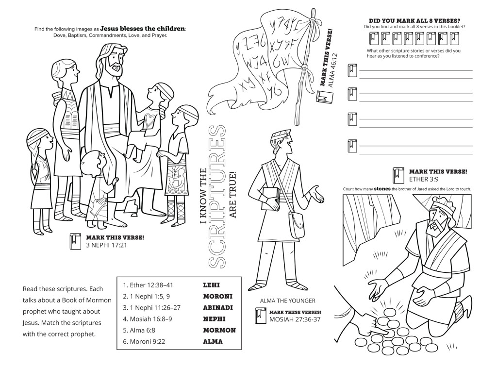 general conference coloring pages - ments