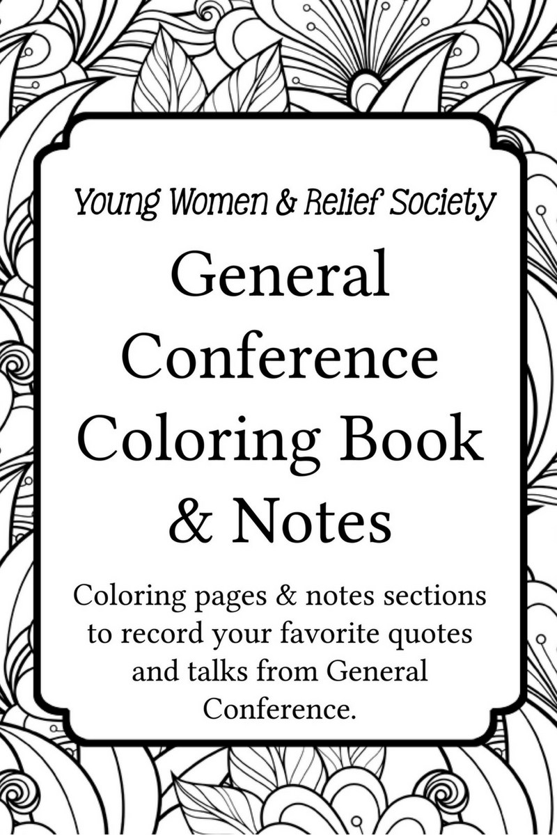 general conference coloring pages - general conference coloring notes book