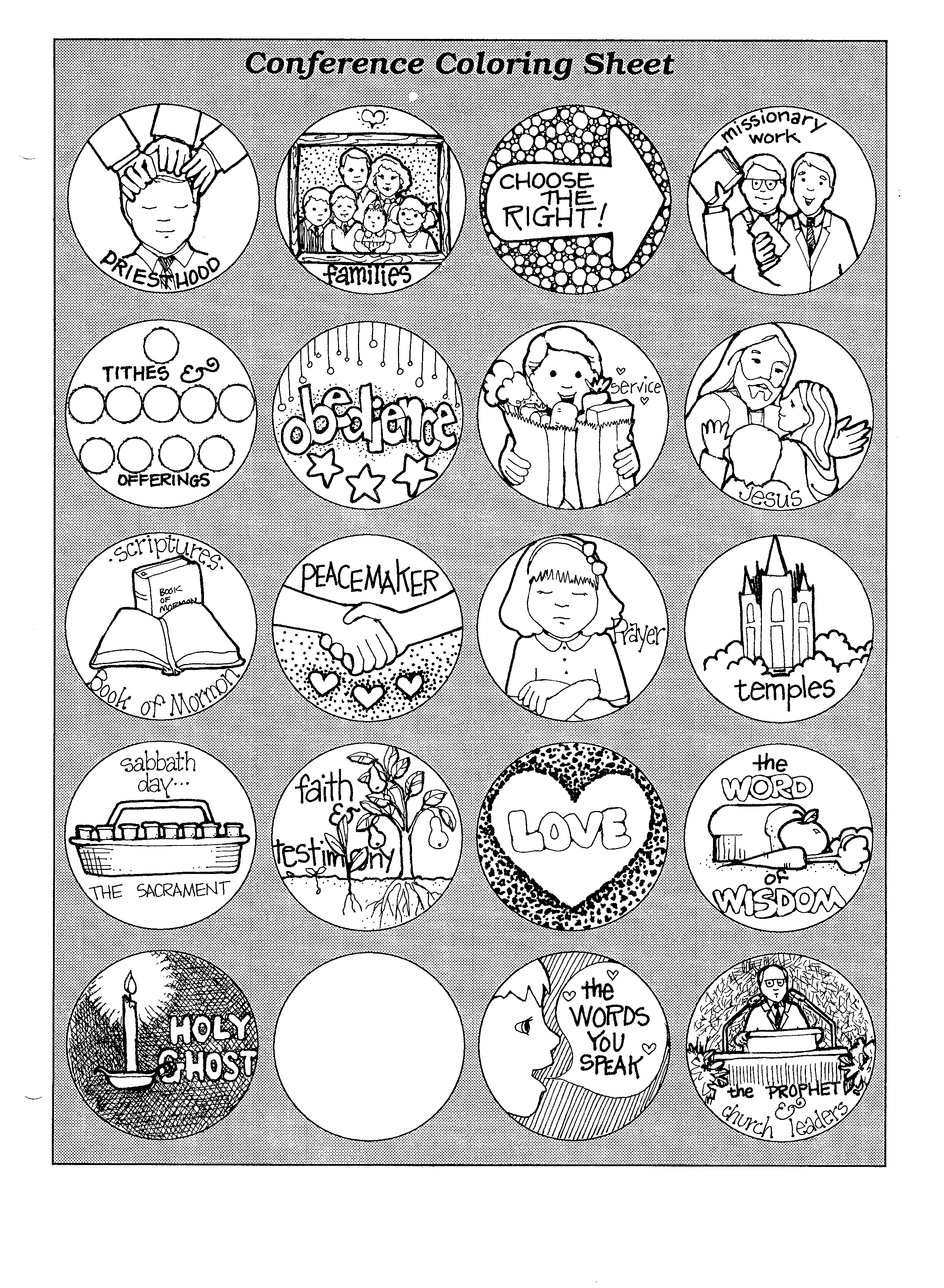 general conference coloring pages - general conference coloring page