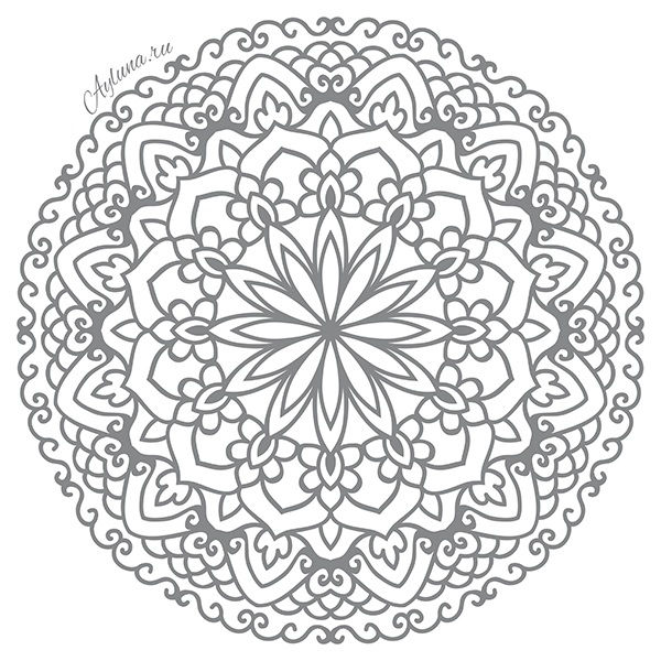 geometric coloring pages - mandala for coloring coloring