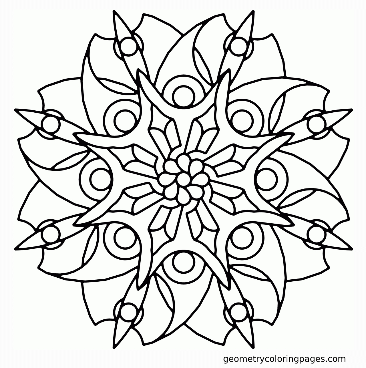 20 Geometric Coloring Pages Pictures   FREE COLORING PAGES