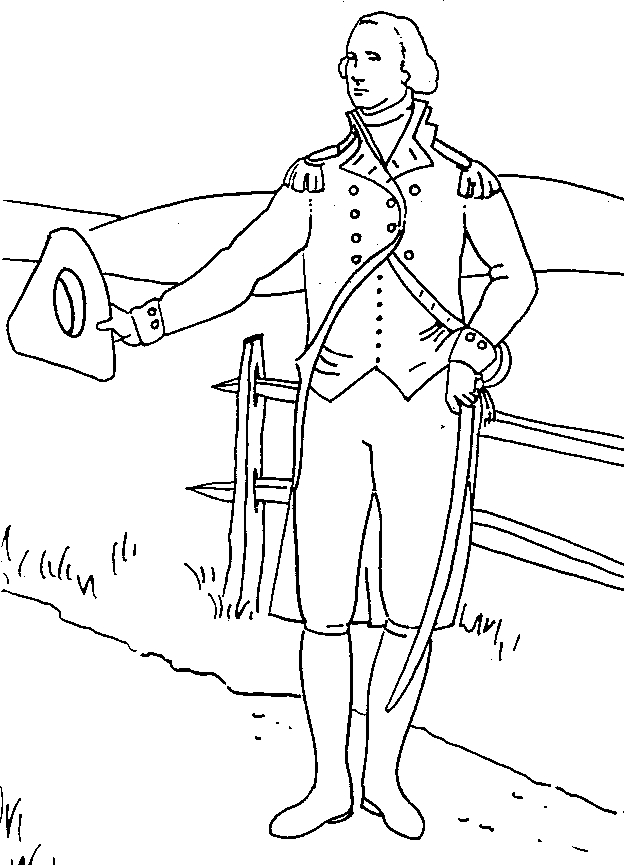George Washington Coloring Page - George Washington Carver Coloring Page Az Coloring Pages